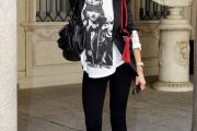 Elegantes modelos de leggings negras