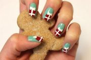 Decoración de uñas navideñas