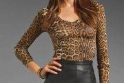Blusas animal print de fiesta de moda