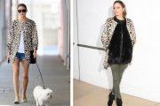 Combinar un abrigo de leopardo