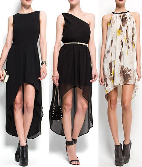 Vestidos largos, cortos y asimétricos de moda