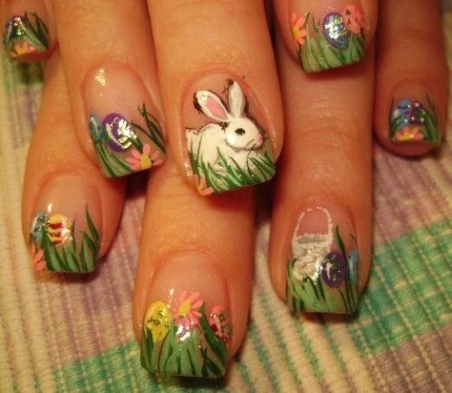 diseños uñas pascuas