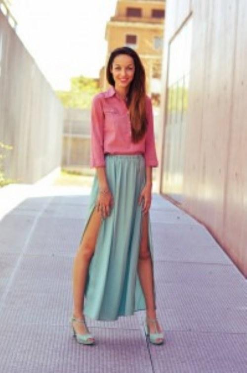 looks faldas largas