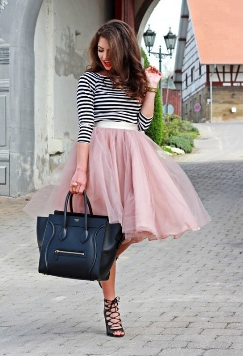 midi faldas outfits primavera