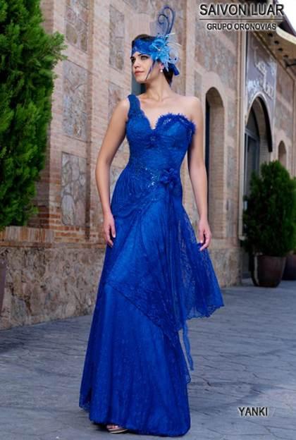 Vestidos De Fiesta Azul Electrico Aquimoda Com