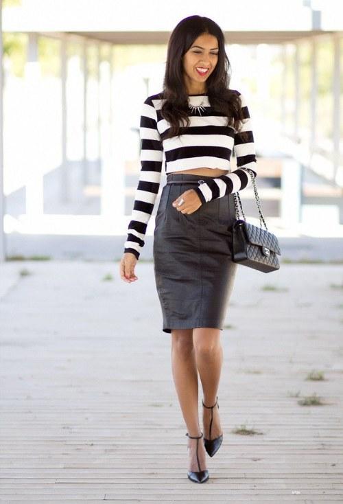 outfits con faldas ejecutivas