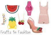 Ultima moda de prendas y accesorios con estampados de Frutas para Verano