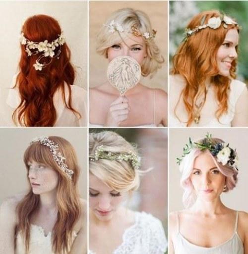 peinados flores novia