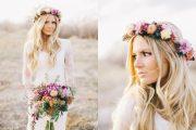 Hermosos Peinados con Flores artificiales para Novias