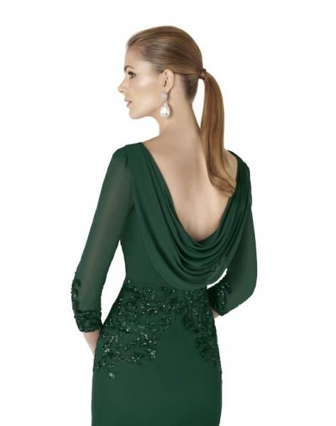 Vestidos de fiesta cortos verde botella