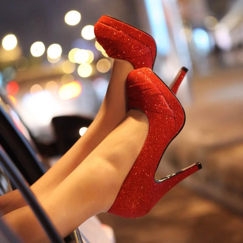 Zapatos rojos, una elegante elección