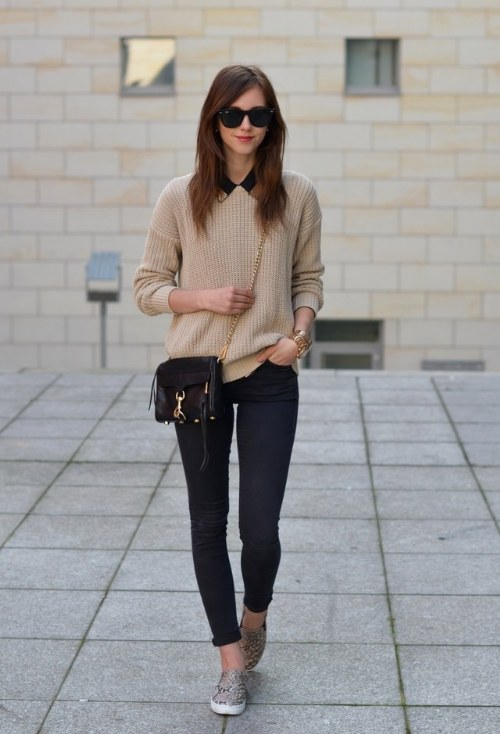 outfits con tennis flats
