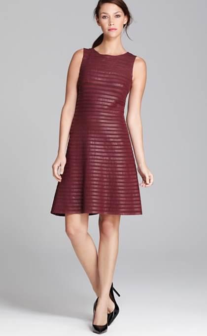 Hermosos vestidos de fiesta color vino