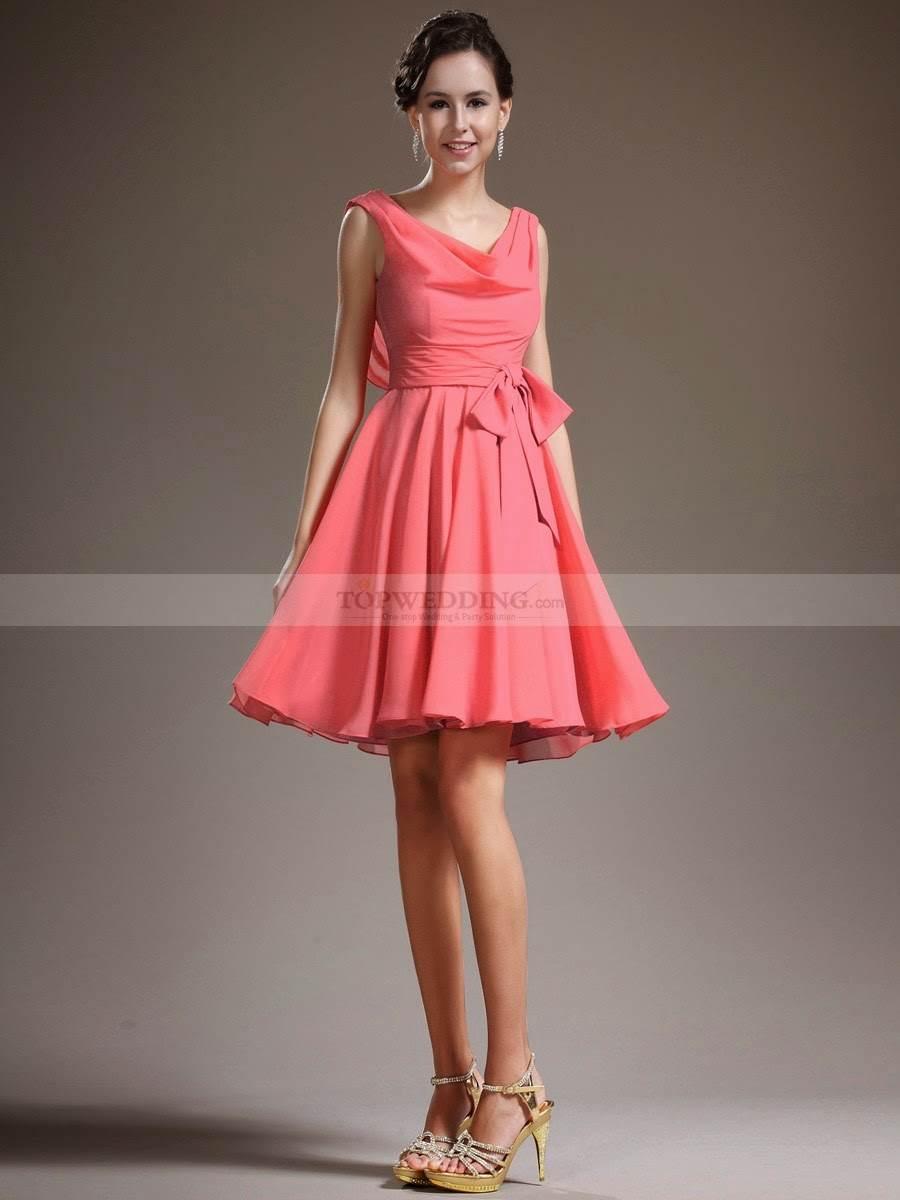 Románticos vestidos cortos para damas de honor