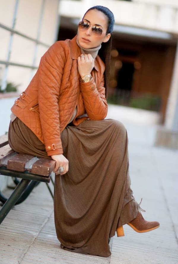 Increíbles faldas largas para combatir el frío