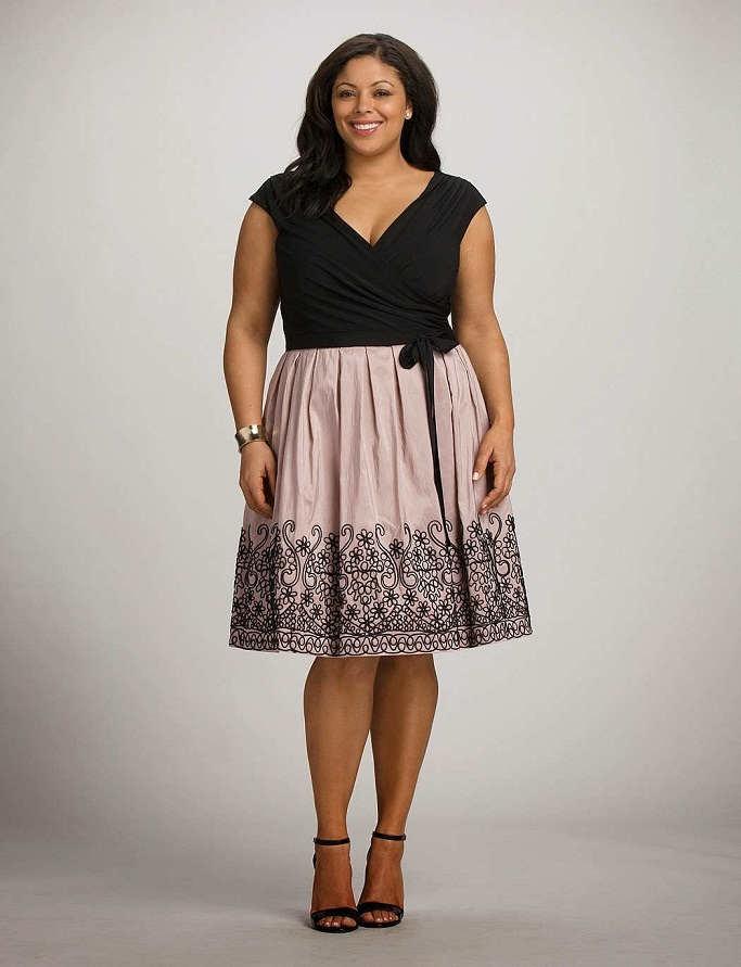 Los mejores modelos de vestidos para gorditas 2014