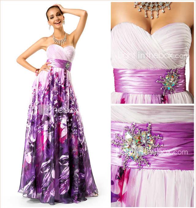 Hermosos vestidos estampados de fiesta / Tendencias 2015