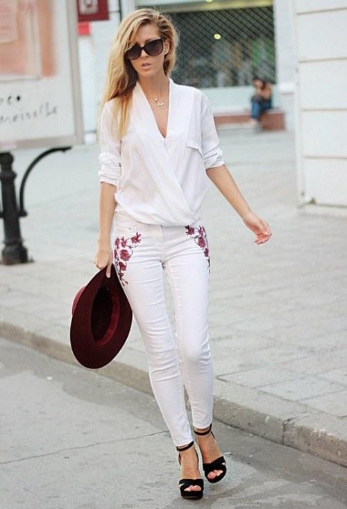 15 maneras para vestir pantalones blancos y tener el mejor look | AquiModa.com vestidos de boda ...