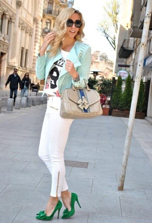 pantalones blanco outfits