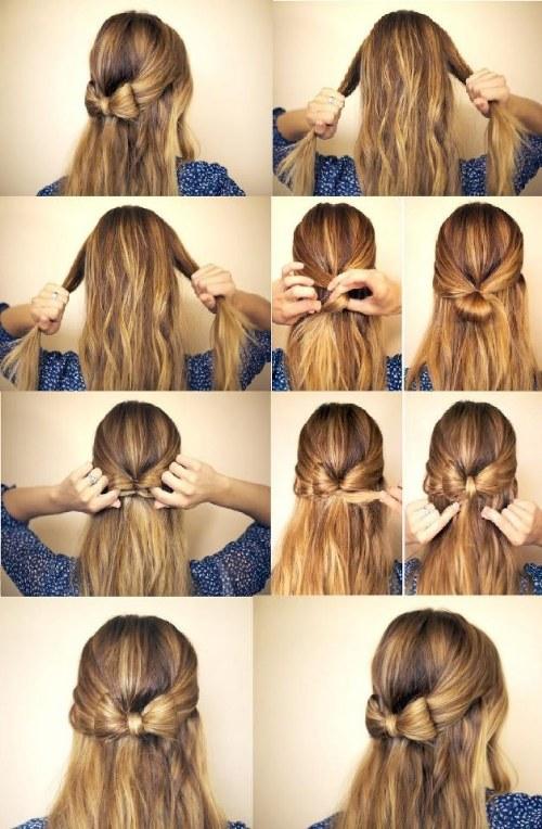 peinados medio cabello recogido