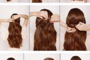 Rápidos y fáciles tutoriales de peinados para medio cabello recogido!