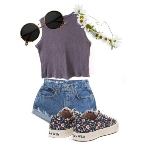 shorts cintura polyvore outfits
