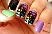 Lindas Uñas color neón con diseños inspirados por el Verano!