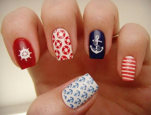 uñas nauticas uñas marineras diseños