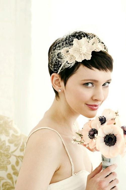 peinados cabello corto para bodas