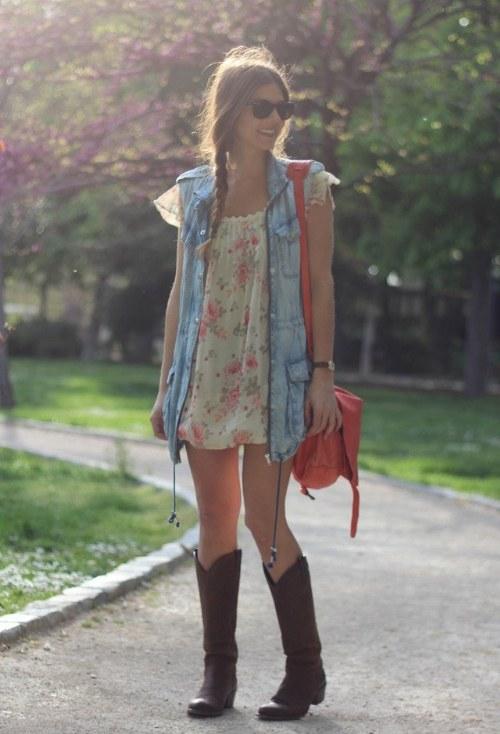 chalecos denim outfits combinaciones