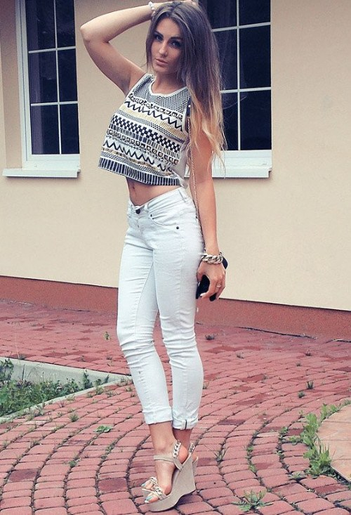 crops tops outfits verano