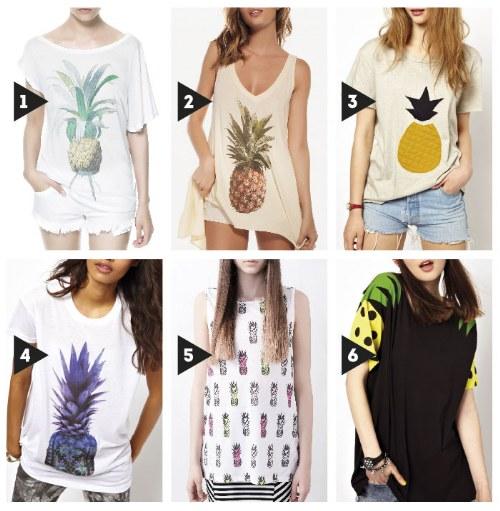 estampados de piña moda verano