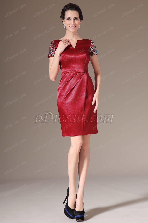 Hermosos vestidos cortos para fiestas de noche