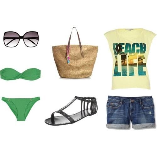 outfits polyvore para verano playa