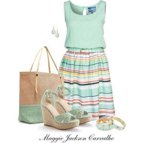 outfits vestidos polyvore verano