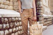 Confortables Outfits con Pantalones Holgados para este Verano 2014