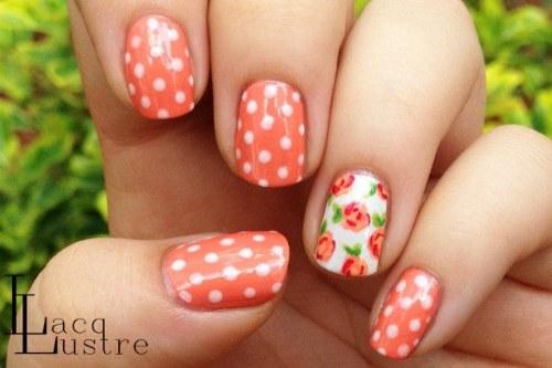 diseños florales para uñas