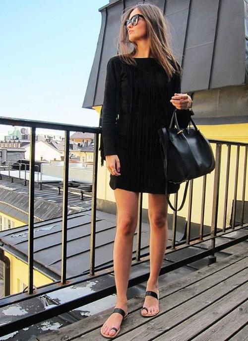 vestidos negros para chicas