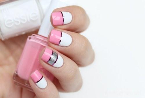 diseños con bloques y divisiones uñas manicura