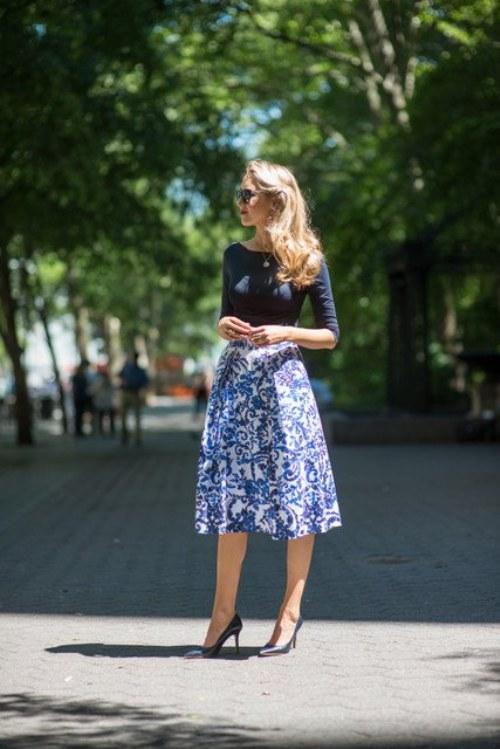Las 10 Faldas midi que te darán un Look elegante y chic para el Verano 2014