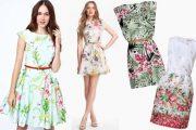 Elegantes y sencillos vestidos floreados que están de moda