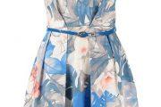 Preciosos vestidos cortos con estampados de flores para fiestas 2014