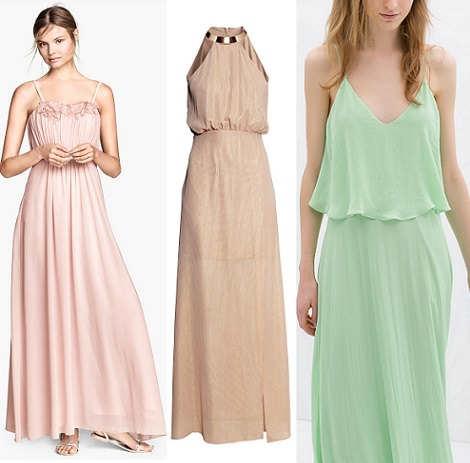Modelos de vestidos largos para fiesta de noche