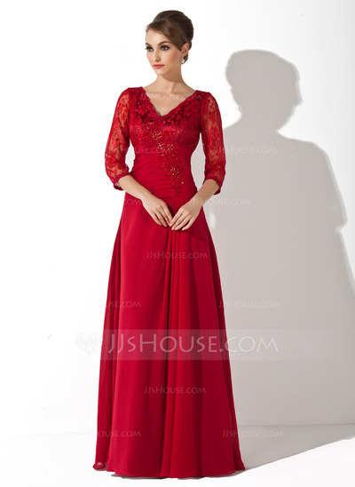 Hermosos vestidos de fiesta con manga tres cuartos | AquiModa.com
