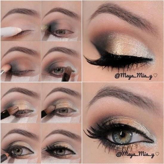 tutoriales fotos paso a paso maquillaje para fiesta