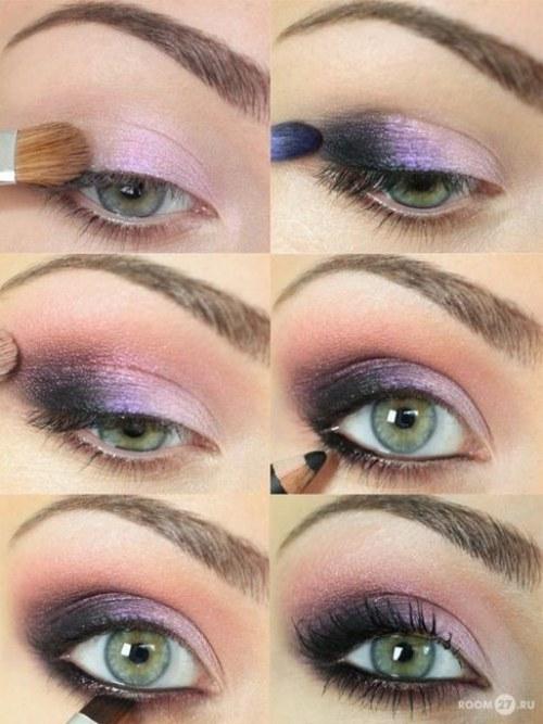 ideas maquillaje para ojos sombras delineado