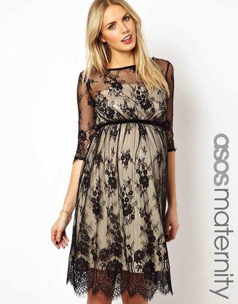 Modernos vestidos con encaje para embarazadas
