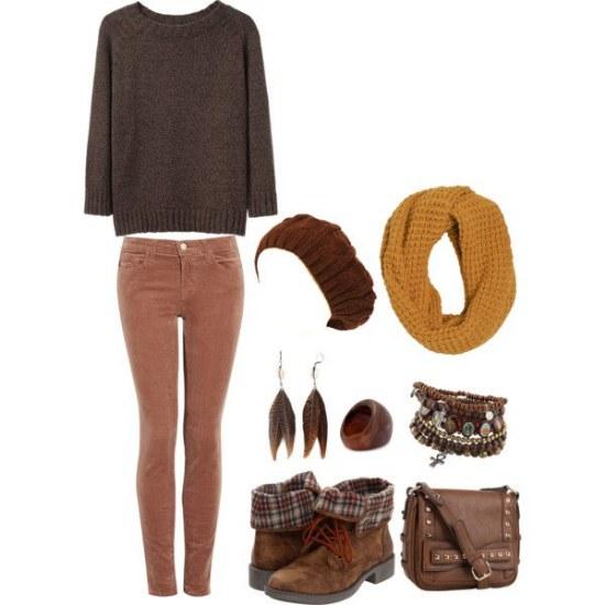 outfits para otoño por polyvore moda