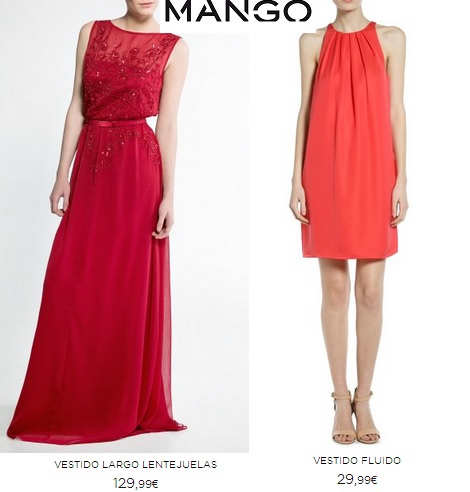 Vestidos de fiesta de mango online