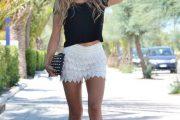 Las mejores combinaciones de Outfits con Shorts tejidos al Crochet